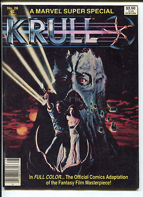 1983 Marvel Super Special #28 Krull The Movie Adaptation In Color Nm- 9.2 Ms2