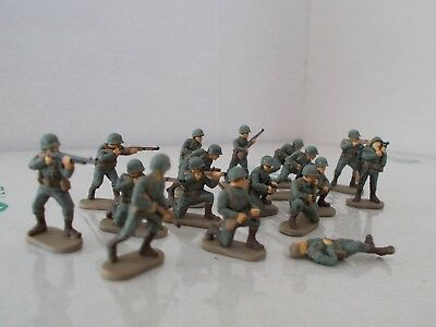 1/72 Painted Soldiers, WW2 US Infantry x16 Plastic soldier company