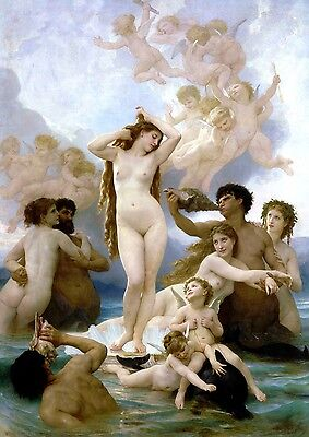 The Birth of Venus Painting by William-Adolpe Bouguereau Art Reproduction