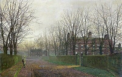 Autumn Afterglow Painting by John Atkinson Grimshaw Art Reproduction