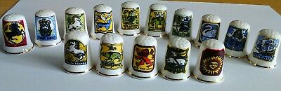 Collectable Thimbles Depicting Pub Signs