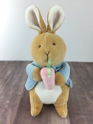 "Eden Plush Velour Peter Rabbit 10"" Soft Pastel Nursery Easter Beatrix Potter"