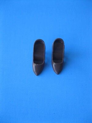 Vintage Barbie Doll BROWN CLOSED TOE SHOES Gold N Glamour #1647 Clothes 60's