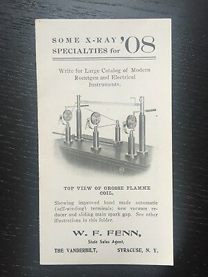 Antique X-Ray Mini Catalog 1908 Medical Devices Electrical Instruments Roentgen