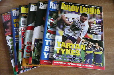 7 x Rugby League World Rugby League Magazines Nos 223-229 EXCELLENT