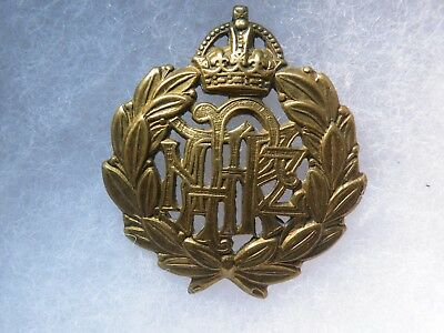 cap badge Royal New Zelande air force WW II