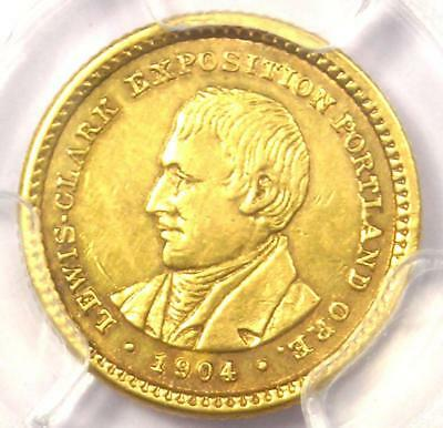 1904 Lewis & Clark Gold Dollar G$1 - PCGS AU Details - Rare Certified Coin!