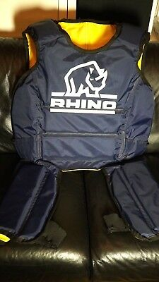 RHINO UK Senior Rugby Full Tackle Suit Pads Hit Shield Protection Reversible £65