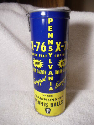 Vintage Pennsilvania X-76 championship tennis balls can NEW OLD STOCK