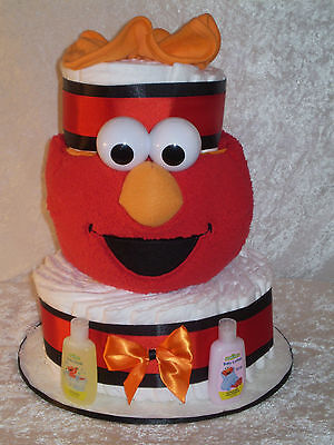 Elmo Basket Diaper Cake ~ Baby Shower Gift ~ Centerpiece ~ Unisex