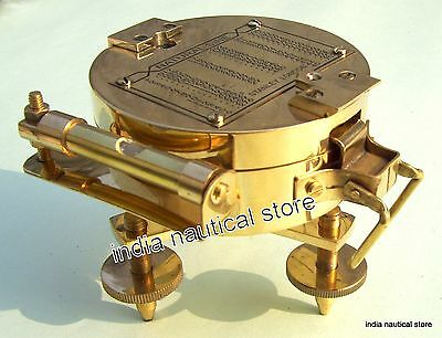 Antique Vintage Brass Brunton Compass Tripod Style Stand Collectible Nice Gift