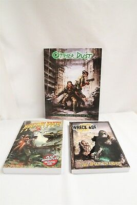 Assorted Role Playing Game RPG Lot Other Dust Wreck-Age Hollow Earth Expedition