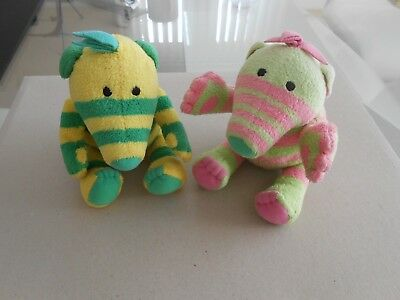 FIMBLES 2x Beautiful clean condition - FIMBLES Soft Toys Vintage - 20x 15cm