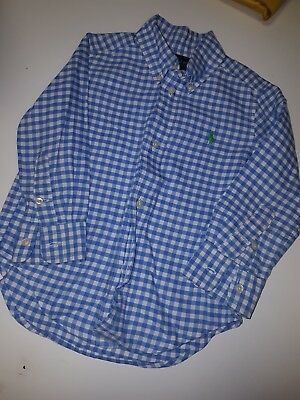Boys Ralph Lauren Long Sleeve Shirt Age 2