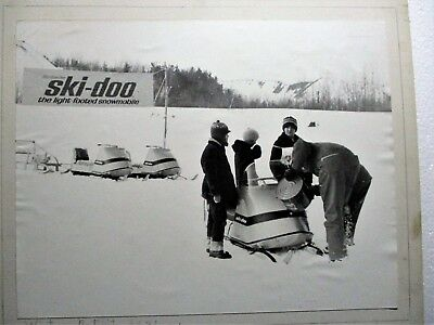 CA. 1950's REAL PHOTOGRAPH SKI-DOO SNOWMOBILES WISCONSIN'S GILE FLOWAGE IRON COU