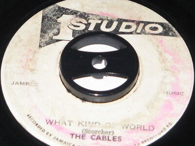 7 inch WHAT KIND OF WORLD - THE CABLES!!!!!!!!!!