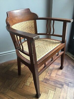 Vintage Batavia Teak and Rattan Tub Armchair