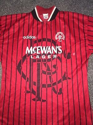 Rangers Away Shirt 1994/95 42/44 Chest Rare And Vintage