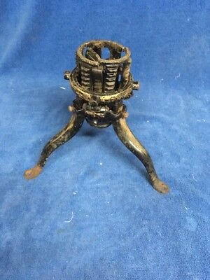 "Antique Victorian  7 5/8"" Cast Iron Christmas Tree Stand North Bros MFG Co Phil."