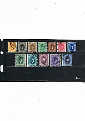 Egypt Stamps #268 King Fuad 1923/4 Definitive Issue Used
