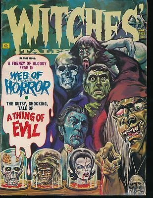 WITCHES' TALES March 1973 Eerie Publications Comic Magazine BARNABAS Cover FN-