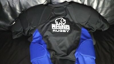 RHINO SKIN UK Mens Rugby Collision Suit Top - Tackle Pads Hit Shield Protection