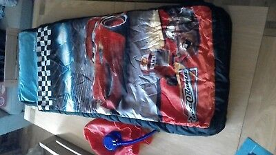 Childrens Ready-Made Inflatable Junior Camping Sleepover Beds Disney Cars