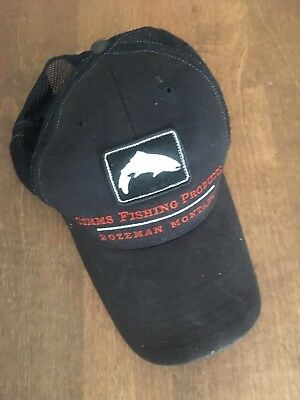 used SIMMS Fishing Products fly fishing angling cap snapback trucker hat angling