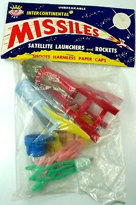 Vintage Nos Royal Tot Intercontinental Toy Missile Pack In Orig. Pkg. Nr