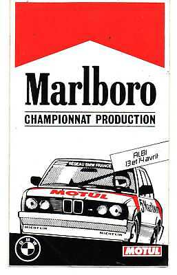 Sticker MARLBORO Championnat PRODUCTION Circuit ALBI 13-14 Avril MOTUL, BMW