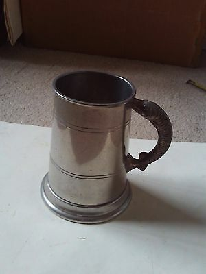 Pewter Tankard With Fish Handle - Trout ? Salmon ? Finest English Pewter No Res