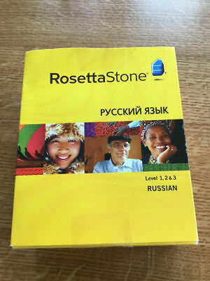 Rosetta Stone Russian Levels 1, 2 and 3 with headset. opened  #1015-2