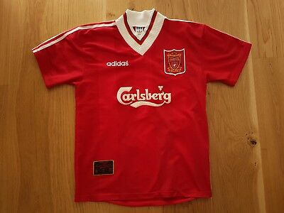 Rare Vintage Liverpool Football Club Adidas Home Jersey, 1995/1996, size M