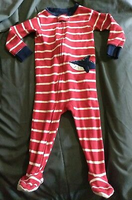 BABY BOY Carter's 12 months shark one piece footie SLEEPER PAJAMAS nautical