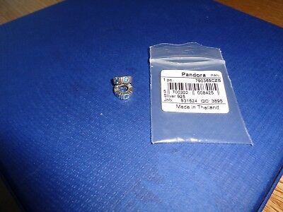 Lot Of Eight New Sterling Silver Authentic Pandora Spacers & Charms
