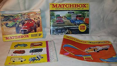 MATCHBOX COLLECTOR'S CATALOGUES 1965, 1969, Superfast