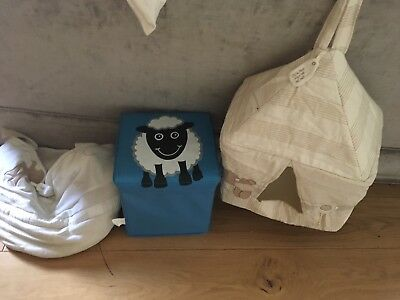 Mamas and Papas Once Upon a time Nappy Stacker Storage Bag And Sheep Storage Box