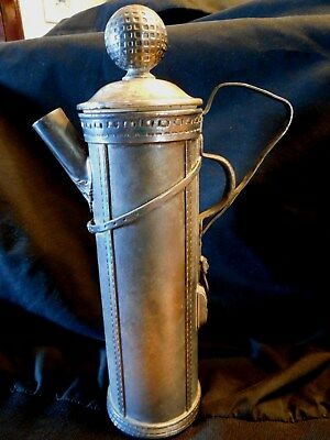 Antique Derby S.p. Co. International S Co. Cocktail Shaker ,golf Bag Design 1921