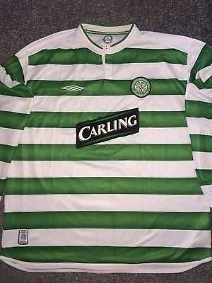 Celtic Home Shirt 2003/04 Long Sleeved 2X-Large Rare