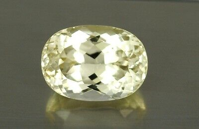 IF 14.46 Ct  16x12 mm , Top Quality Sparkling  Color Natural Yellow Kunzite