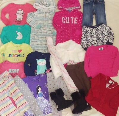 Toddler Girl Clothes Lot 12-18 18 months Baby Fall Winter Boots Carter's Pants