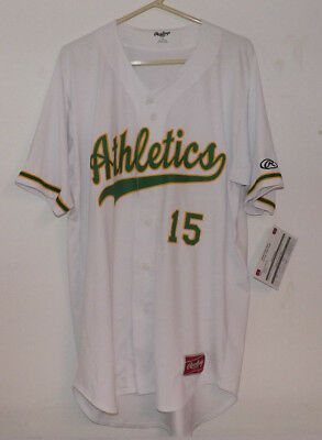 Rawlings ATHLETICS #15 Jersey and Pants. Size 44. New with Tags.
