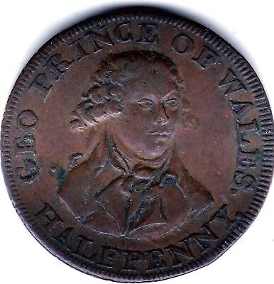 London and Middlesex  Halfpenny ND  Prince of Wales  ( London or Dublin )