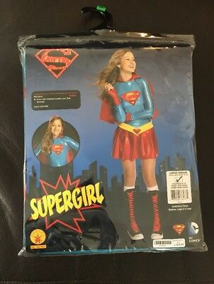 Super Girl Halloween Costume Size Large 12-14 New W/pkg By Rubies