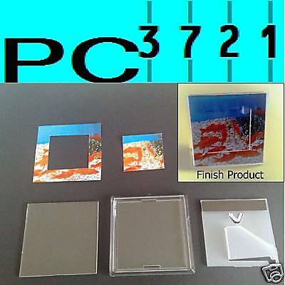 1 BLANK CLEAR 3D PHOTO FRAME, FRIDGE MAGNET, DOOR PLAQUE 90 x 90mm Insert  G1515
