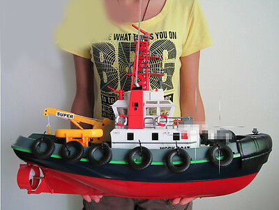 Red Length 60cm Simulation Remote Control Fireboat Children's Gift Toys  #