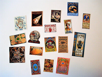 1/12th Dolls House Miniature Fortune Telling, Occult Signs/Posters