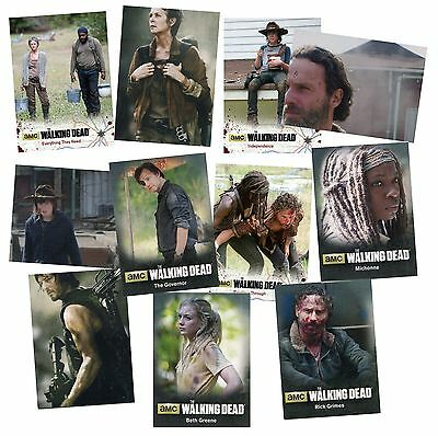 The Walking Dead Season 4 Part 1 Mini Master Set - 94 Cryptozoic 2016 Cards