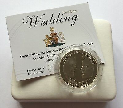 2011 Royal Mint Royal Wedding Silver Proof Piedfort Five Pounds Piece £5 Boxed