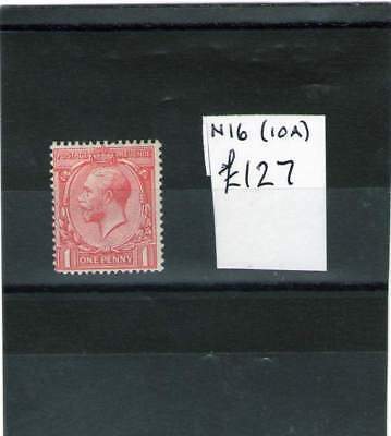 Gb King George V Mint Stamp 1912-24 N16 ( 10A ) Cat £127++